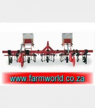 S440 New BPI 7 Unit 6 Row Intergral Cultivator With 3 Fertilizer Bins / 7 Eenheid 6 Ry Tussenry