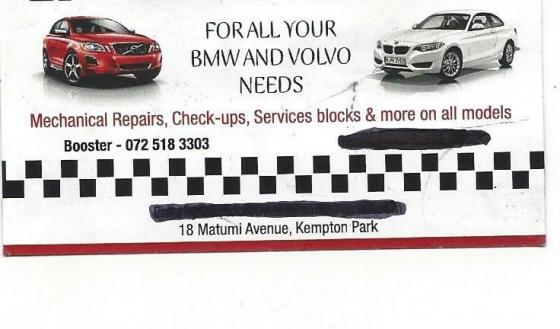 BMW AND VOLVO MOBILE MECHANIC AND DIAGNOSTICS