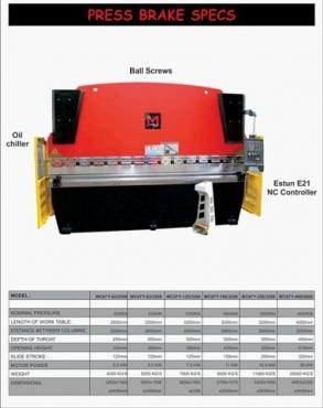 PRESS BRAKES GUILLOTINE PLASMA CUTTERS ETC ETC FOR SALE