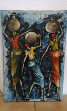 African oil paintings all 5 for R3000 or R800 each