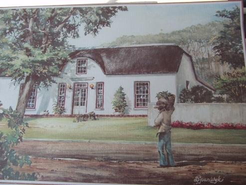 Cape Dutch Prints By Van Wyk - 5 prints