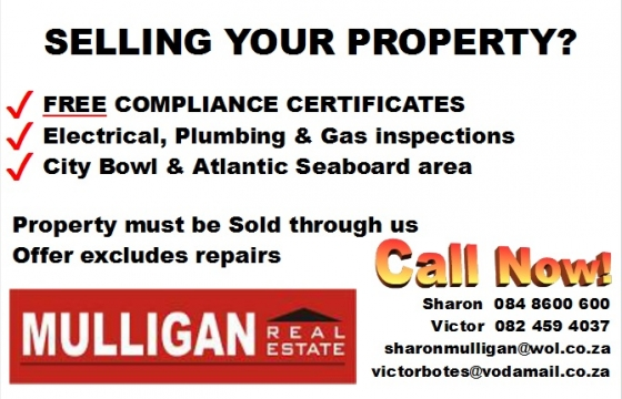 Special: Free Electrical, Plumbing, Gas Compliance Certificates for our Property Sellers!