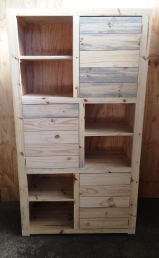 Display unit Farmhouse series 2000 with doors Raw