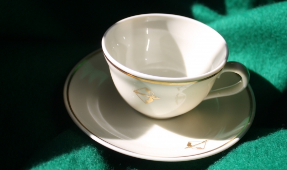 Richard Ginori Porcelain Espresso Set - (Alitalia branded)