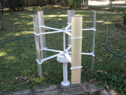 WIND TURBINE, Vertical Axis Wind Turbine.  2 x 45 watt.   Permanent magnet.