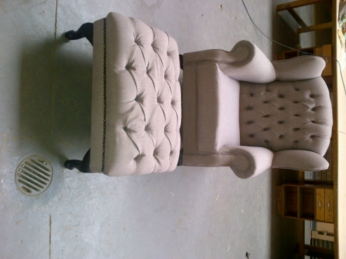 Cool Stylish Wingback And Footstool Combo Junk Mail Alphanode Cool Chair Designs And Ideas Alphanodeonline