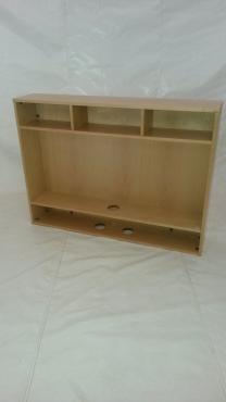 Maple veneer desktop bookcase