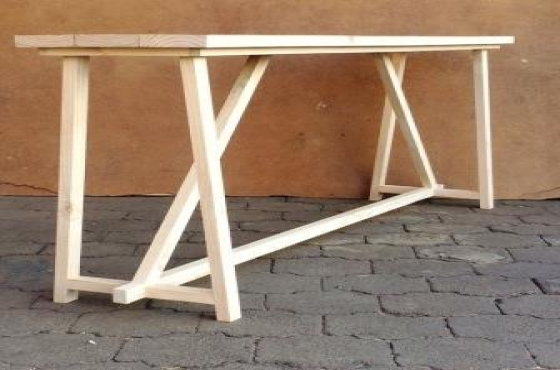 Sofa table Chunky Cottage series 2000 Raw