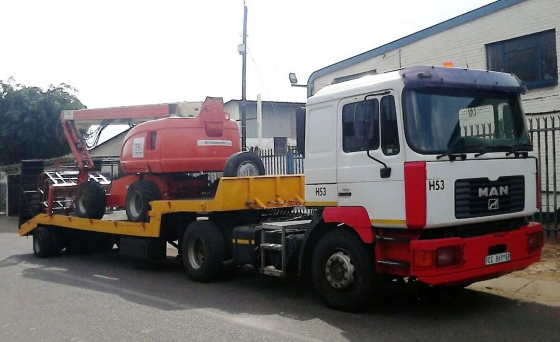 LOWBED - MAN F2000 TRUCK AND LOWBED FOR HIRE