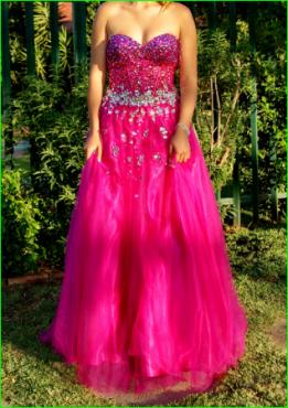 Beautifull Cerise Pink Ballgown