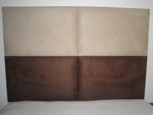 King size Suede Wall Mounted Headboard