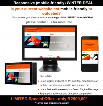 R2500 for a 5 page Mobile-Friendly Website