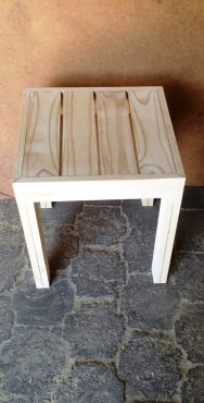 Side tables Farmhouse series 515 square No shelves Raw