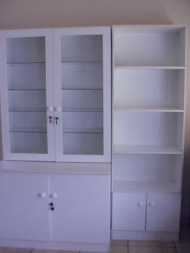 3 piece white cupboards