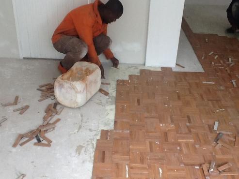 Installation on wooden floors