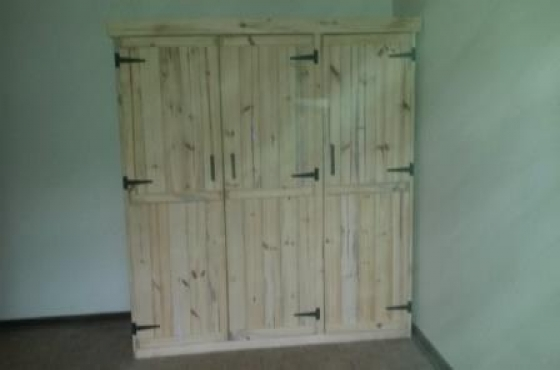 Wardrobe Farmhouse series 1900 3 door Raw