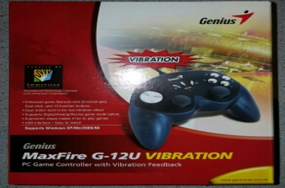 Genius Max Fire Vibration PC game controller