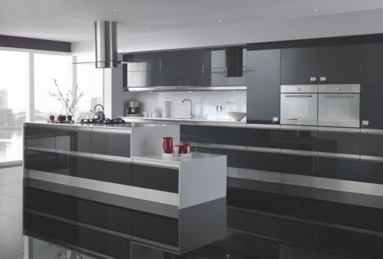 Stunning high gloss  kitchen