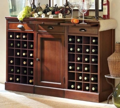 Wine storage cupboard