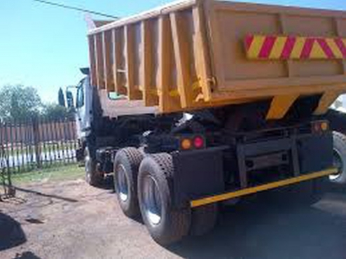 2007 Tata Novus 3434 10 meter tipper for sale with current income.