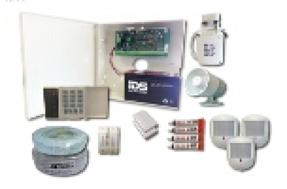 Alarm system 8 zone full kit with cables