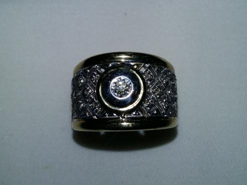 Ladies 9ct diamond dressring