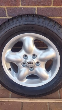 One Brand New 16 inch Landrover Freelander 1 Spare mag with Brand New Tyre