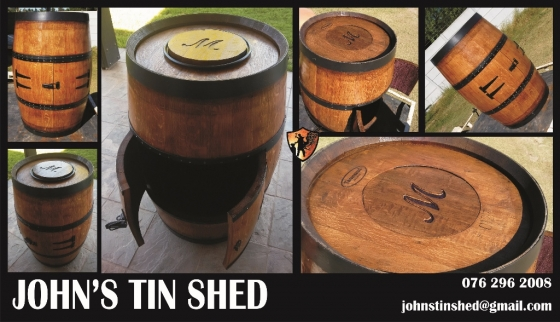 Custom wine barrel conversions