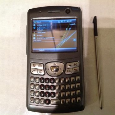 Microsoft cell phone with built in pen.