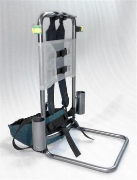 Fishing backpack frame:  H frame
