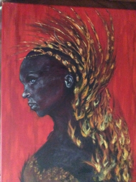 Oil Painting African Woman Junk Mail