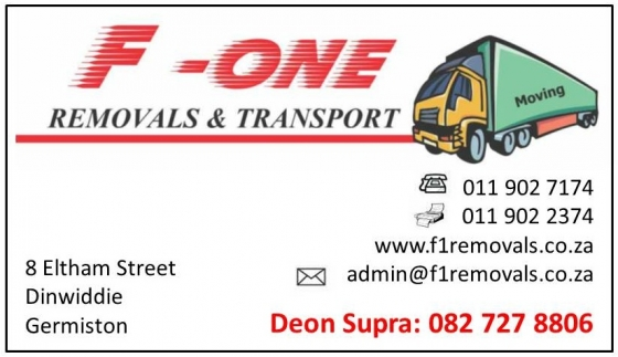 F-ONE Removals and Transport