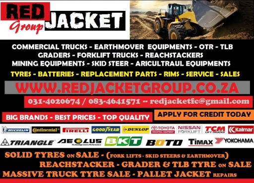 MASSIVE SOLID TYRE SALE THIS AUGUST & SEPTEMBER ONLY @ RED JACKET