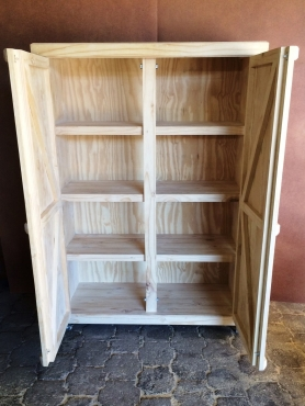 Grocery Cupboard Farmhouse series 1950 Mobile Raw