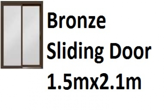 Bronze Sliding Door 1.5mx2.1m