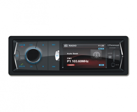 Paramount ZX3500BT 3 DVD Bluetooth USB SD CD Player - Includes Installation