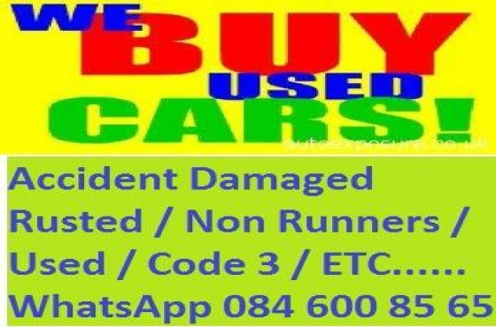 Cash for cars and Bakkies, accident Damaged, Used, Non Runners
