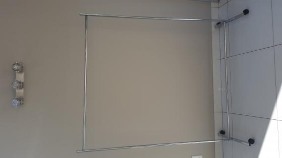 Brand new chrome clothing rails