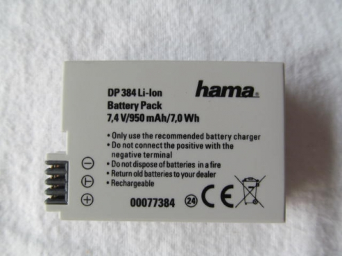 Batteries for Canon 550D, 600D, 650D, 650D and 700D by Hama