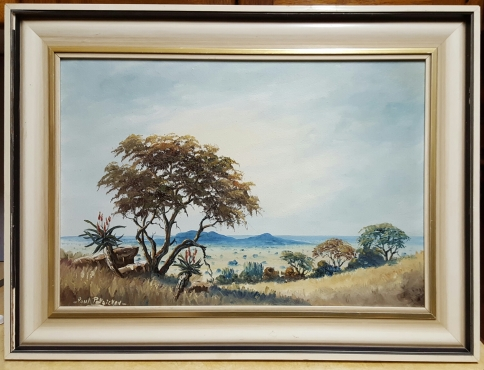 2 x Paul Potgieter paintings