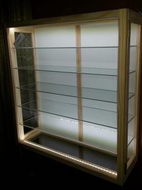 Sunshine Ornamental Glass Display Cabinet With Glass Shelves