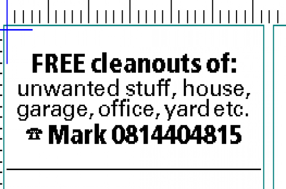 free cleaning  of  unwanted stuff