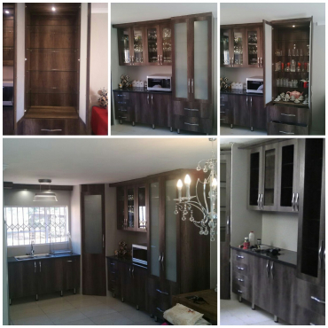 Customised kitchens and built in cupboards
