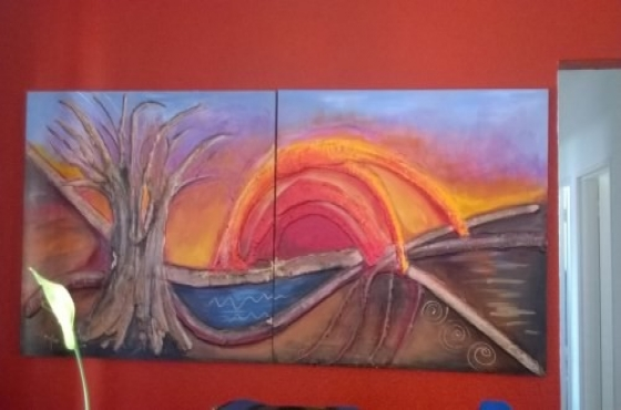Miq Miles  Lourain Fieldgate Paintings (x4) Make an offer all will be considered