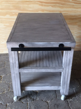 Kitchen Island Farmhouse series 1000 mobile (Weathered look/grey wash)