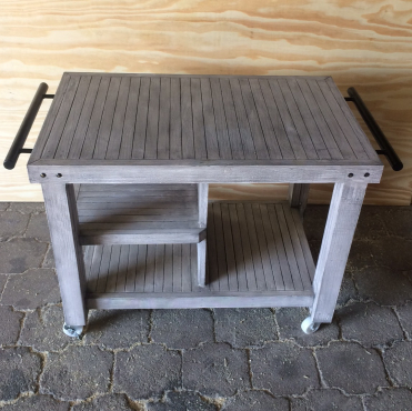 Kitchen Island Chunky Farmhouse series 1000 mobile - Grey wash