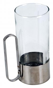 RUSSIAN TEA GLASS HOLDER S/STEEL
