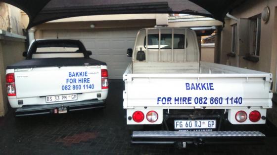 25% less Bakkie/Truck for hire  around Pretoria