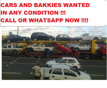 Any condition vehicles wanted