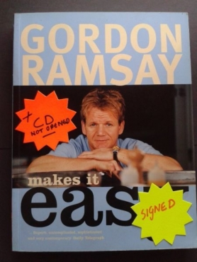 Make it easy - Gordon Ramsay - Signed - With CD not opened.